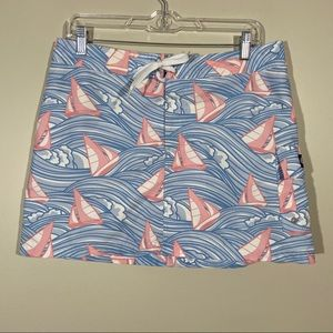 Vineyard Vines Skirt With Boats Ties In Front